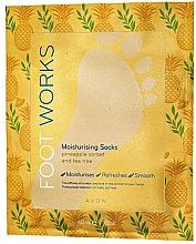 Parfémy, Parfumerie, kosmetika Hydratační maska na nohy s ananasem a čajovým stromem - Avon Foot Works Mask For Legs