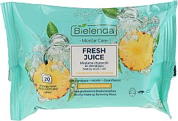 Parfémy, Parfumerie, kosmetika Odličovací ubrousky Ananas - Bielenda Fresh Juice Micelar Care Make-up Removing Wipes