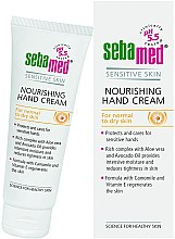 Parfémy, Parfumerie, kosmetika Krém na ruce - Sebamed Hand And Nail Cream Protective With Vit E And Cammomile