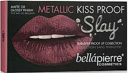 Parfémy, Parfumerie, kosmetika Kosmetická sada na rty - Bellapierre Kiss Proof Metallic Slay (l/liner/ 1,8 g + l/cr 3,8 ml + l/finish 3,8 ml)