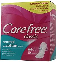 Parfémy, Parfumerie, kosmetika Hygienické slipové vložky, 56 ks - Carefree Classic Normal With Cotton Extract