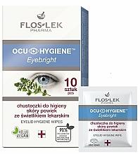 Parfémy, Parfumerie, kosmetika Čisticí ubrousky na oční víčka - Floslek Eyebright Eyelid Hygiene Wipes