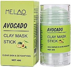 Parfémy, Parfumerie, kosmetika Avokádová maska na obličej - Melao Avocado Clay Mask Stick