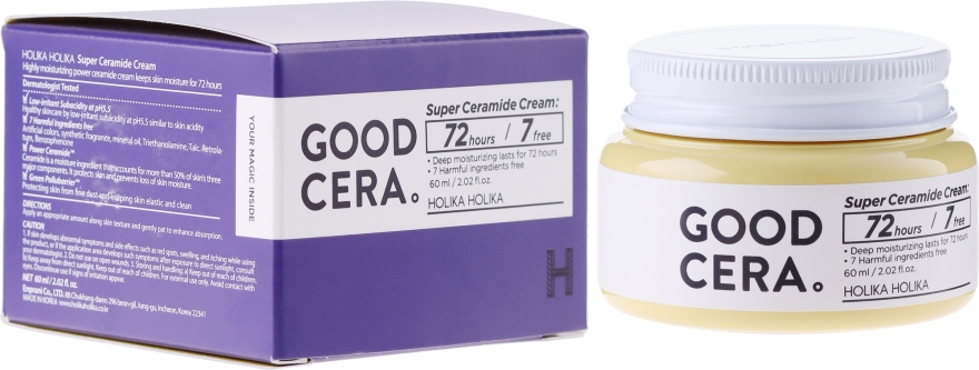 Krém na obličej - Holika Holika Good Cera Super Cream Sensitive