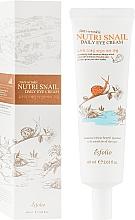 Parfémy, Parfumerie, kosmetika Krém na oční okolí s hlemýždím mucinem - Esfolio Nutri Snail Daily Eye Cream