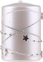 Parfémy, Parfumerie, kosmetika Dekorativní svíčka, bílá, 11x7 cm - Artman Christmas Garland