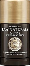 Parfémy, Parfumerie, kosmetika Deodorant v tyčince - Recipe For Men RAW Naturals No. 1 Deodorant Stick