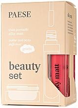 Parfémy, Parfumerie, kosmetika Sada - Paese Beauty Set (lipstick/2x6ml + eye/powder/5.3g)