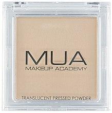Parfémy, Parfumerie, kosmetika Průhledný pudr na obličej - MUA Translucent Pressed Powder