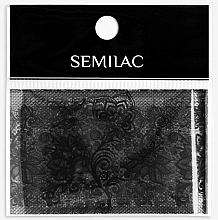 Parfémy, Parfumerie, kosmetika Dekorace na manikúru - Semilac 06 Transfer Nagelfolie Semilac Black Lace