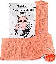 """Parfémy, Parfumerie, kosmetika Cestovní sada ručníků, broskvové """"MakeTravel"""" - Makeup Face Towel Set"""