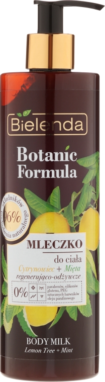 "Tělové mléko ""Citron a Máta"" - Bielenda Botanic Formula Lemon Tree Extract + Mint Body Milk"