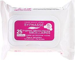Parfémy, Parfumerie, kosmetika Odličovací ubrousky - Byphasse Make-up Remover Micellar Solution Sensitive Skin Wipes