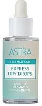 Parfémy, Parfumerie, kosmetika Kapky expresní sušení - Astra Make-up Sos Nails Care Express Dry Drops