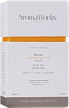 Parfémy, Parfumerie, kosmetika Tělový olej - AromaWorks Serenity Body Oil