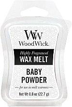 Parfémy, Parfumerie, kosmetika Aromatický vosk - WoodWick Wax Melt Baby Powder