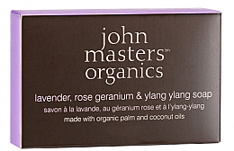 Parfémy, Parfumerie, kosmetika Mýdlo na obličej a tělo - John Masters Organics Lavender Rose Geranium & Ylang Ylang Soap