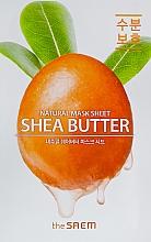 Parfémy, Parfumerie, kosmetika Plátýnková maska s bambuckým máslem - The Saem Natural Shea Butter Mask Sheet