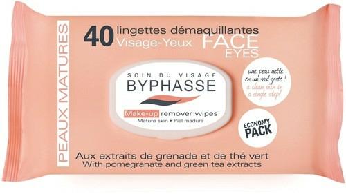 Odličovací ubrousky - Byphasse Make-up Remover Pomegranate Extract And Green Tea