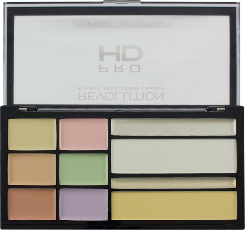 Paleta korektorů na obličej - Makeup Revolution HD Correct and Perfect Palette