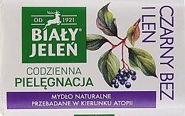 """Parfémy, Parfumerie, kosmetika Hypoalergenní mýdlo """"Bezinky a len"""" - Bialy Jelen Hypoallergenic Soap Black Lilac"""