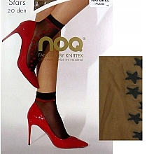 Parfémy, Parfumerie, kosmetika Dámské ponožky Stars, 20 Den, naturel/fumo - Knittex