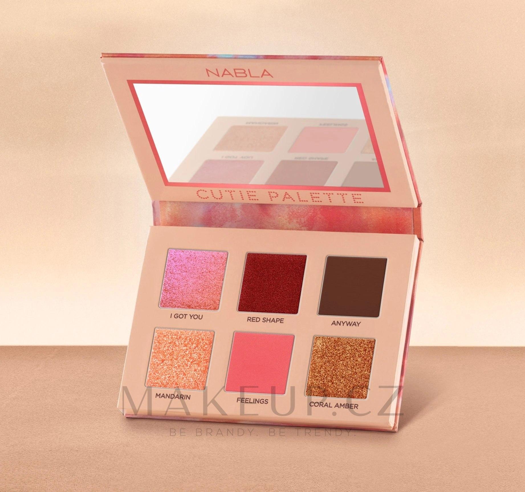Nabla Cutie Collection Palette Coral - Paleta očních stínů