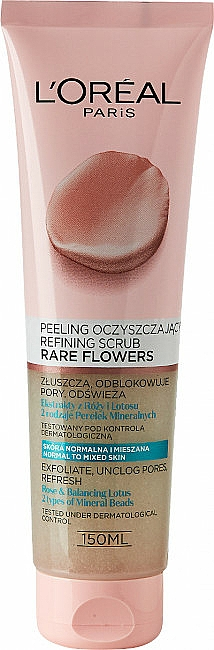 Peeling na obličej - L'Oreal Paris Skin Expert Rare Flowers Refining Scrub
