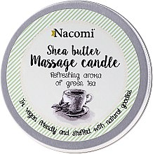 Svíčka s tělovým olejem - Nacomi Shea Butter Massage Candle — foto N1