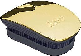 Parfémy, Parfumerie, kosmetika Kartáč na vlasy - Ikoo Pocket Soleil Metallic Black