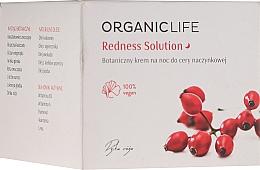Parfémy, Parfumerie, kosmetika Noční krém na pleť náchylnou ke kuperóze - Organic Life Dermocosmetics Redness Solution Night Cream