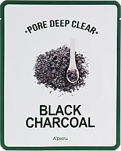 Parfémy, Parfumerie, kosmetika Látková maska s černým uhlím pro čištění pórů - A'pieu Pore Deep Clear Black Charcoal Mask