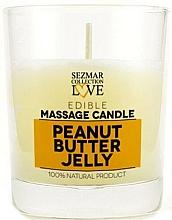 Parfémy, Parfumerie, kosmetika Přírodní masážní svíčka Arašídové želé - Sezmar Collection Peanut Butter Jelly