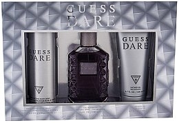 Parfémy, Parfumerie, kosmetika Guess Dare Men - Sada (edt/100ml + deo/226ml + sh/gel/200ml)