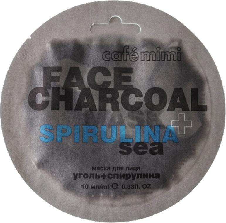 Pleťová maska Bambusové uhlí a spirulina - Cafe Mimi Charkoal & Spirulina Sea Face Mask