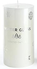 Parfémy, Parfumerie, kosmetika Aromatická svíčka, bílá, 7x8 cm - Artman Winter Glass