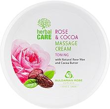 Parfémy, Parfumerie, kosmetika Masážní krém s tonizujícím účinkem - Bulgarian Rose Herbal Care Rose & Cococa Massage Cream