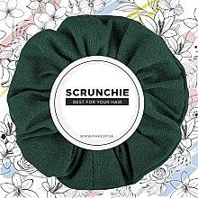 "Parfémy, Parfumerie, kosmetika Gumička na vlasy úplet, smaragd ""Knit Classic"" - MakeUp Hair Accessories"