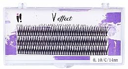 """Parfémy, Parfumerie, kosmetika Trsové řasy """"V efekt"""" C 0.10, 14 mm - Ibra 10 Flares Eyelash"""