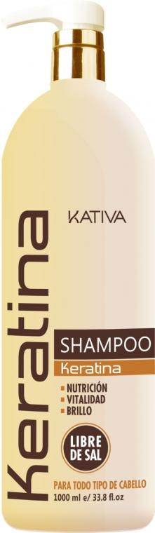 Keratinový zpevňující šampon pro všechny typy vlasů - Kativa Keratina Shampoo — foto N4