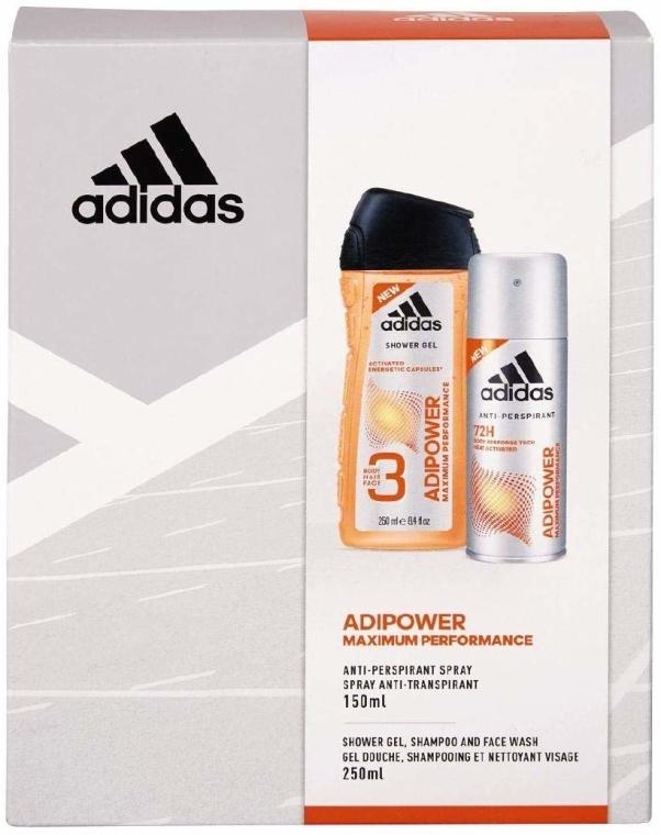Sada - Adidas Adipower Men (sh/gel/250ml + deo/spray/150ml)