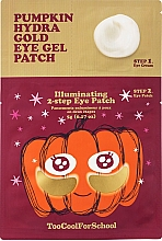 Parfémy, Parfumerie, kosmetika Dvoustupňové hydrogelové náplasti s dýňovým extraktem a koloidním zlatem - Too Cool For School Pumpkin Hydra Gold Eye Gel Patch