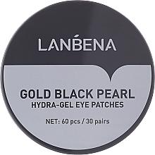 Parfémy, Parfumerie, kosmetika Hydrogelové náplasti pod oči se zlatem a černou perlou - Lanbena Gold Black Pearl Hydra-Gel Eye Patch