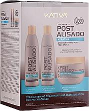 Parfémy, Parfumerie, kosmetika Sada - Kativa Straightening Post Treatment Keratin (shm/250ml + cond/250ml + mask/250ml)