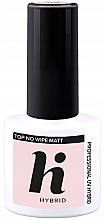 Parfémy, Parfumerie, kosmetika Vrchní vrstva pro matný vzhled nehty - Hi Hybrid Top No Wipe Matt