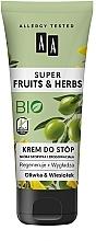 "Parfémy, Parfumerie, kosmetika Krém na nohy ""Oliva a primula"" - AA Super Fruits & Herbs"