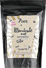 Parfémy, Parfumerie, kosmetika Třpytivý kávový peeling na tělo - 7 Days Illuminate Me Miss Crazy Coffee Shimmering Body Scrub