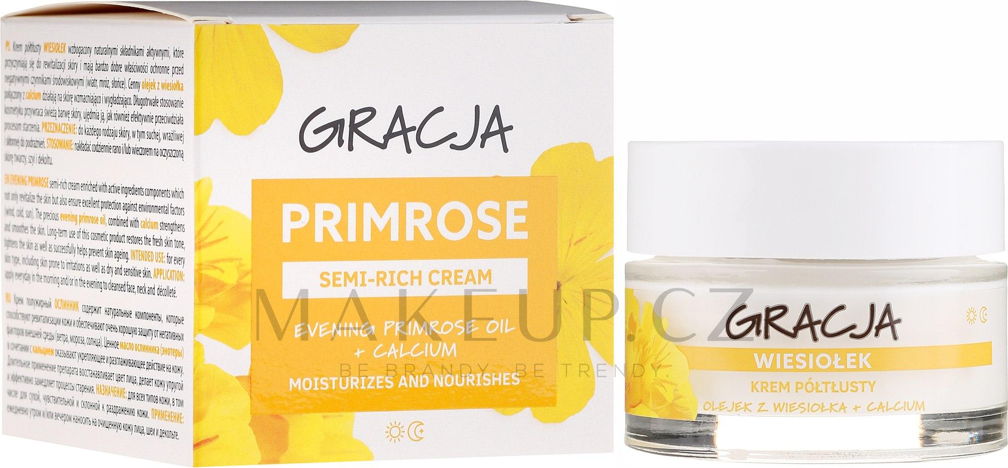 Výživný krém s pupalkovým olejem - Gracja Semi-oily Cream With Evening Primrose — foto 50 ml