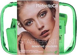 Parfémy, Parfumerie, kosmetika Sada pro barvení obočí a řas - RefectoCil Lash & Brow Starter Sensitive Kit (dye/3x15ml + developer/gel/60ml + tint/remover/150ml + artist/palette + pads + folder)