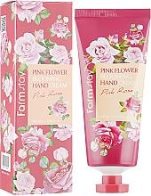 Parfémy, Parfumerie, kosmetika Krém na ruce s růžovým extraktem - FarmStay Pink Flower Blooming Hand Cream Pink Rose